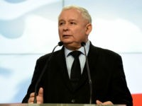 The leader of Poland's governing right-wing Law and Justice (PiS) party Jaroslaw Kaczynski gives a press conference in Warsaw on March 13, 2017. / AFP PHOTO / JANEK SKARZYNSKI (Photo credit should read JANEK SKARZYNSKI/AFP/Getty Images)
