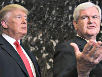 Gingrich, Trump Seth WenigAP