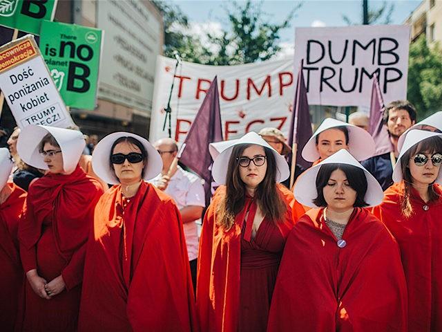 HandmaidsTalePolandProtestTrump