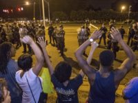 Hands up don't shoot - BLM Protest Baton Rouge Police -- Getty Images