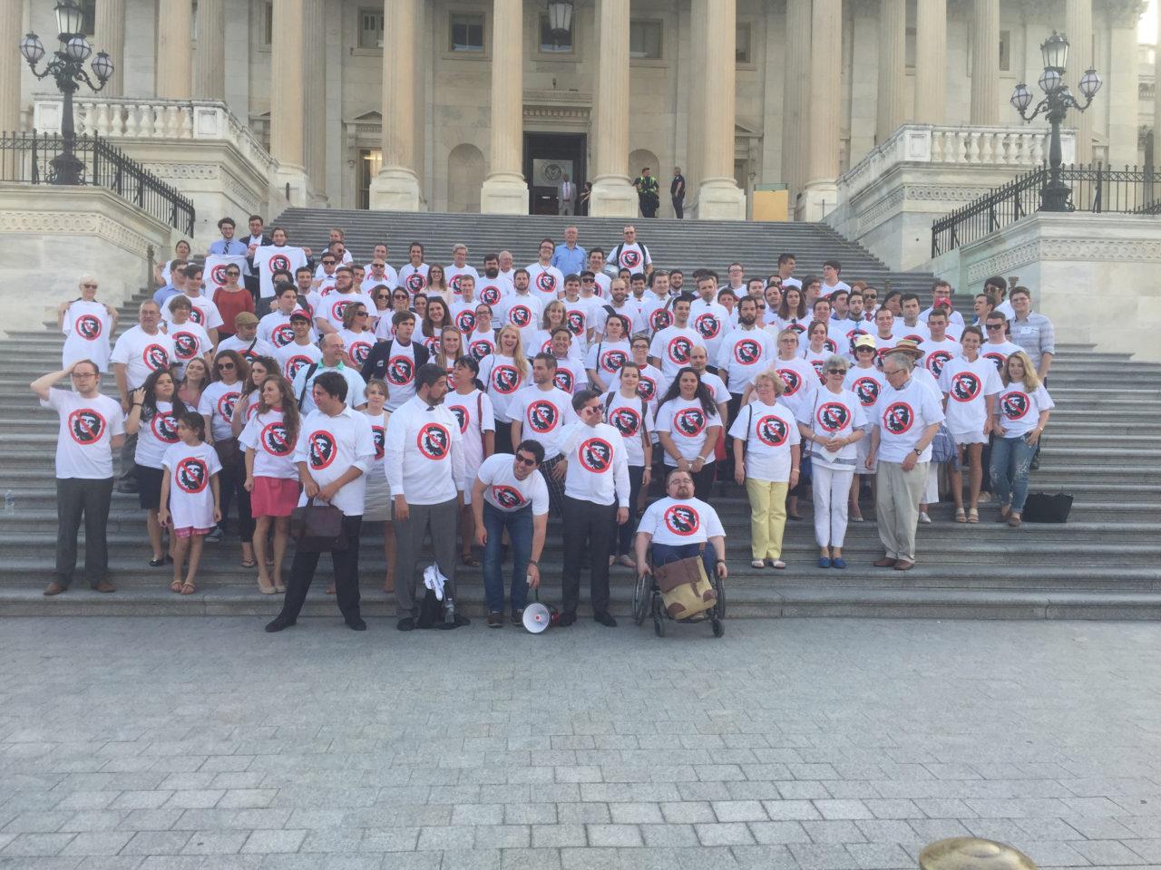 Anti-Socialist Protesters Rally Before Congress for Liberation of Venezuela, Cuba