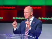 FILE - In this Jan. 28, 2016, file photo, billionaire Amazon founder and Washington Post owner Jeff Bezos talks about the history and character of the Post during a dedication ceremony for its new headquarters in Washington. Presumptive Republican presidential nominee Donald Trump told Fox News in an interview on …