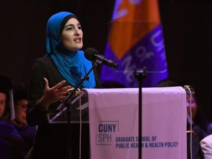 Linda Sarsour at CUNY (Timothy A. Clary / AFP / Getty)