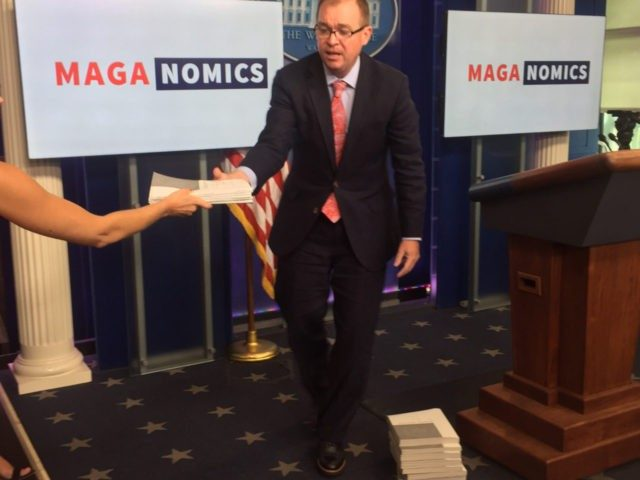"Office of Management and Budget Director Mick Mulvaney highlighted and defined the ""next iteration"" of Reaganomics which he introduced as ""MAGAnomics"" during Thursday afternoon's White House press briefing."