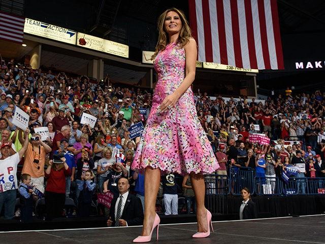 Fashion Notes: Melania Wears Monique Lhuillier at Ohio Trump Rally