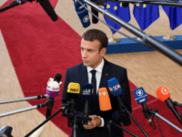 French President Emmanuel Macron arrives for his first summit since winning the Presidency, at the EU Council headquarters ahead of a European Council meeting on June 22, 2017 in Brussels, Belgium.