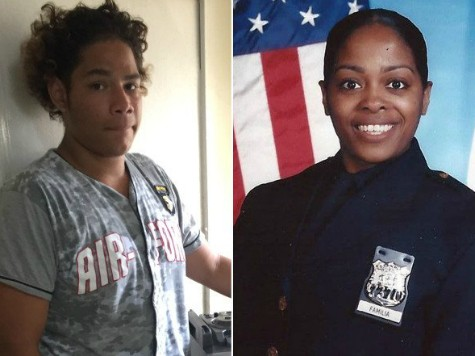 Julien Rodriguez (left) and Officer Miosotis Familia