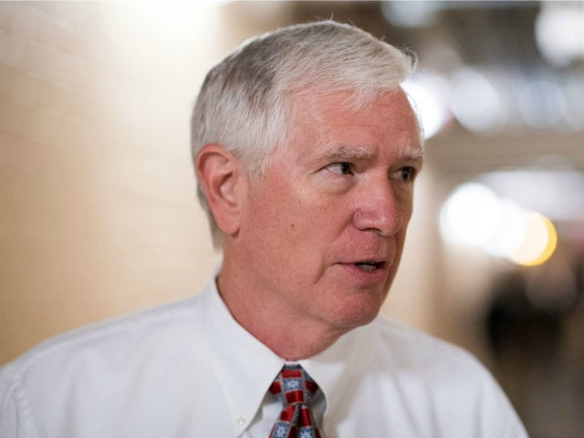 Rep. Mo Brooks, R-Ala., speaks with reporters as he leaves the House Republican Conference meeting in the Capitol on Wednesday morning, Sept. 7, 2016. (Photo By Bill Clark/CQ Roll Call) (CQ Roll Call via AP Images)