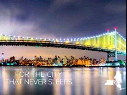 New York Bridge Light Show Video