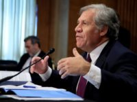 OAS Secretary General Luis Almagro testifies before the Senate Foreign Relations subcommittee on Venezuela, on Capitol Hill in Washington, Wednesday, July 19, 2017. (AP Photo/Manuel Balce Ceneta)
