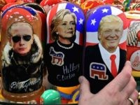 Putin Clinton Trump dolls (Kirill Kudryavstev / AFP / Getty)