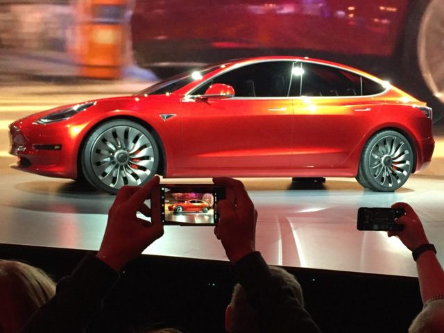Tesla Model 3 (Justin Pritchard / Associated Press)