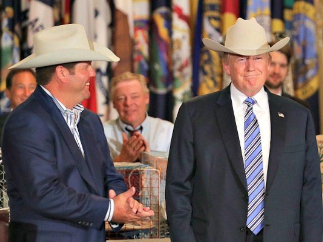 Trump in Stetson Chip SomodevillaGetty