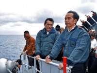 Indonesian president Joko Widodo on a visit to the Natunas