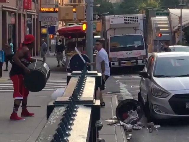 VIDEO: Man Wielding Machete Fights Man Carrying Trash Can in NYC Brawl