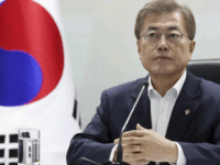 South Korean President Moon Jae-in attends a meeting of the National Security Council at the presidential Blue House in Seoul, South Korea, Thursday, June 8, 2017. North Korea fired several suspected short-range anti-ship missiles Thursday, South Korea's military said, in a continuation of defiant launches as it seeks to build a nuclear missile capable of reaching the continental United States. (Yonhap via AP)