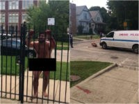 Graphic Video: Naked Chicago Man with Self-Inflicted Penis Wound Rushes at Police