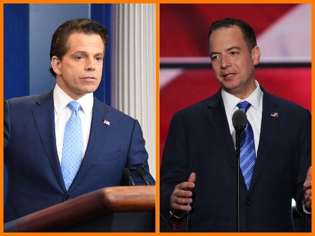 Anthony Scaramucci and Reince Priebus