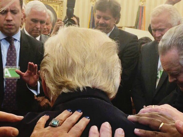 Trump's Prayer Photo And The Laying On Of Hands Sparks Twitter Backlash