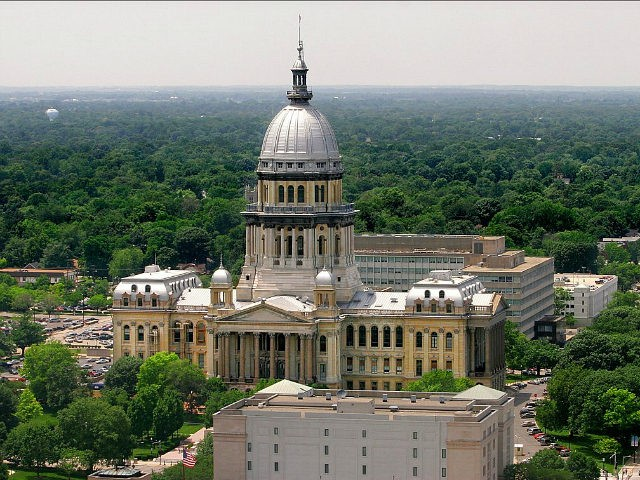 The Illinois State Capitol in Springfield, Ill., shown Wednesday, June 21, 2006, measures 361 feet to the top of its familiar dome. The neck-bending skyscrapers that pack Chicago's fabled skyline are little more than scaled-down miniatures in downstate cities, where even the tallest buildings are at least three times shorter …