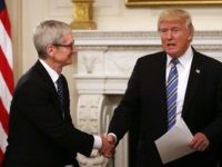 President Trump Says Apple CEO Tim Cook Promised to Build Three Factories in U.S.