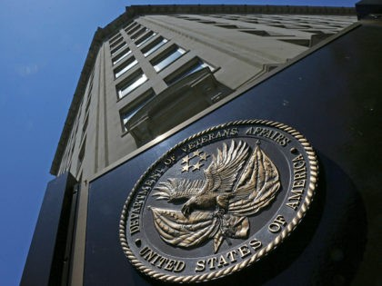 FILE - In this June 21, 2013 file photo, the Veterans Affairs Department in Washington. Federal authorities have launched dozens of new criminal investigations into possible opioid and other drug theft by employees at Department of Veterans Affairs hospitals, a sign the problem isn't going away despite new prevention efforts. …