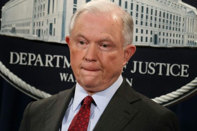 Attorney General Jeff Sessions, who recused himself from the Russia probe for his role on the Trump campaign and undisclosed contacts with the Russian ambassador, appears under threat of losing his job