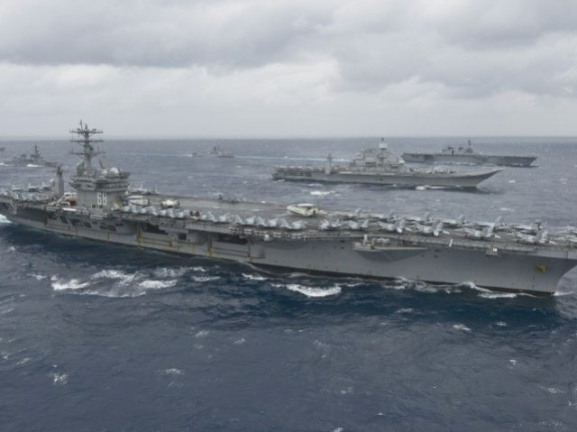 U.S. carriers in rare Pacific op amid North Korea tensions