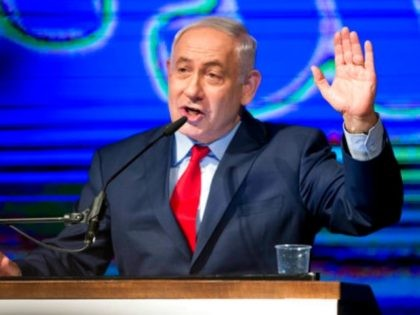 Israel's Prime Minister Benjamin Netanyahu talks during his Likud Party conference in Tel Aviv, Israel, Wednesday Aug. 9, 2017. Netanyahu, lashed out at the media and his political opponents in an animated speech to hundreds of enthusiastic supporters on Wednesday, seeking to deliver a powerful show of force as he …