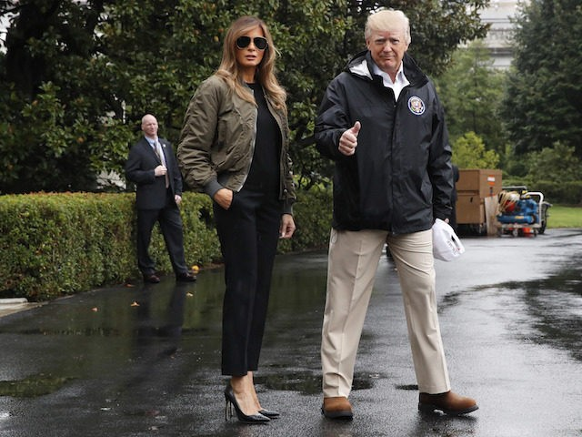 6384ac321a88 Critics Sneer at Melania Trump for Wearing Heels on Trip to Texas