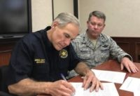 Texas Governor Greg Abbott and Texas Military Department Commander, Maj. General John F. Nichols. (Photo: Office of the Texas Governor)
