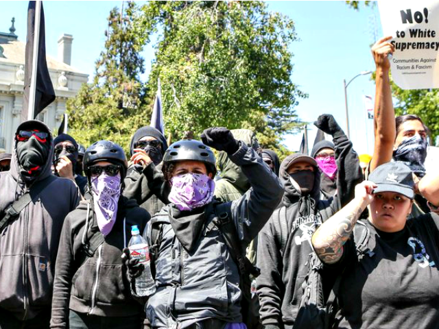 Antifa Amy OsborneAFPGetty Images