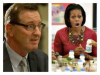 David Binkle, 55, a former chef who ultimately oversaw a budget of hundreds of millions of dollars as he implemented Michelle Obama's school lunch program in the LAUSD pleaded not guilty to 15 felony counts, including embezzlement and misappropriation of public funds.