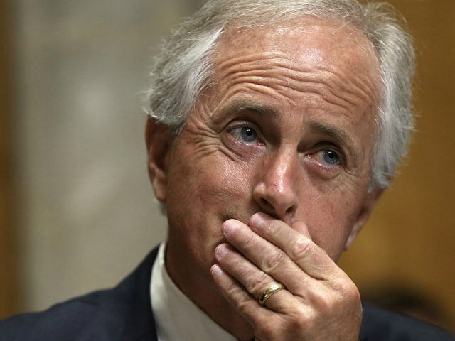 Committee Chairman Sen. Bob Corker (R-TN) listens as Assistant U.S. Secretary of State for Western Hemisphere Affairs Roberta Jacobson testifies before the Senate Foreign Relations Committee May 20, 2015 in Washington, DC. The committee heard testimony on the topic of 'U.S. Cuban Relations - The Way Forward.' (Photo by Win …