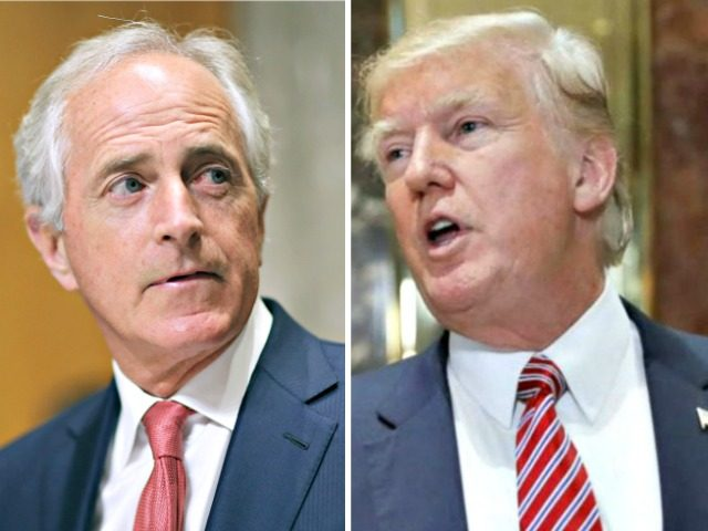 Trump attacks Corker in tweet