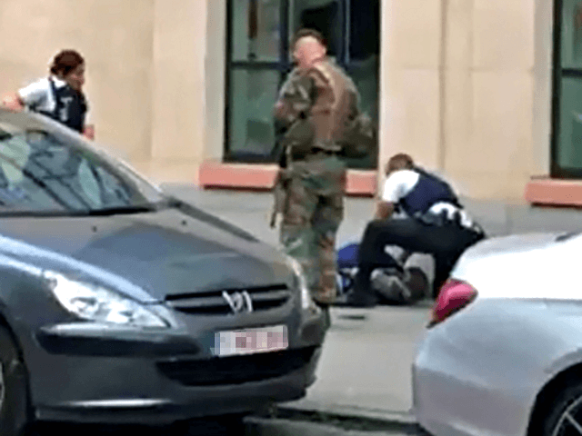 Knifeman 'shot after attacking soldiers' in Brussels
