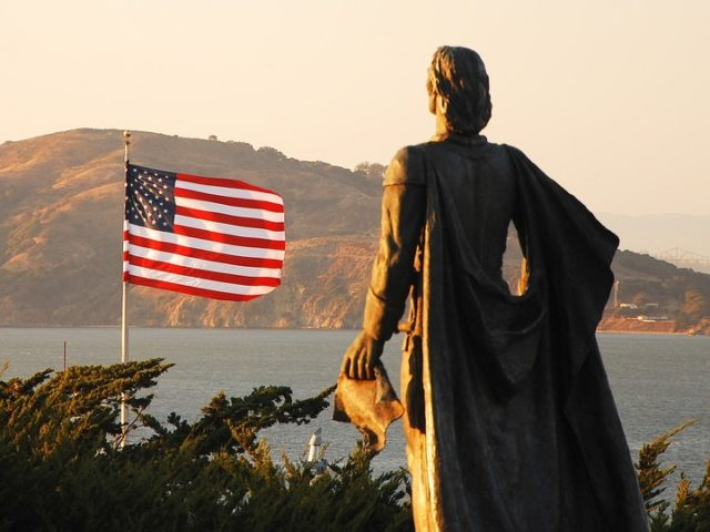Christopher Columbus in SF (May Wong / Flickr / CC / Cropped)