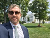 Journalist Mike Cernovich outside of the White House