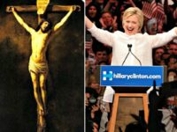 Christ and Hillary on the Cross REUTERSLucas Jackson