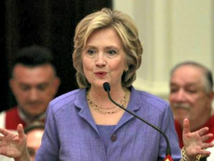 Clinton Preaching REUTERSYuri Gripas