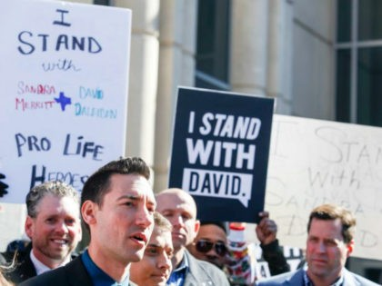 David Daleiden, a defendant in an indictment stemming from a Planned Parenthood video he helped produce, speaks to the media after appearing in court at the Harris County Courthouse on February 4, 2016 in Houston, Texas. Daleiden is facing an indictment on a misdemeanor count of purchasing human organs, and …