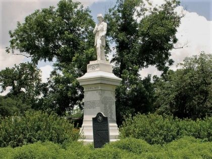 The statue of Dick Dowling, which guards the entrance to Hermann Park on Cambridge Street, dates from 1905, and is the work of Frank A. Teich. It is also the first publicly financed monument in Houston