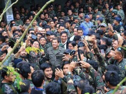 President Rodrigo Duterte visits Marawi City on Friday, August 4, 2017.