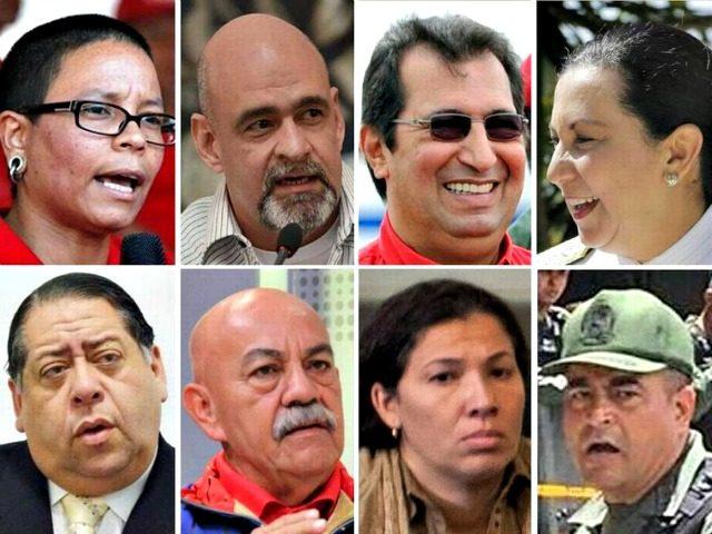 Eight in Venezuela Sanctioned by US