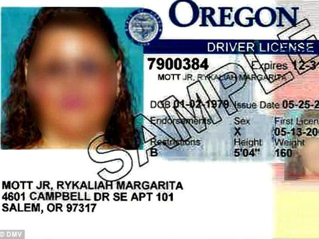 Gender Neutral ID DMV