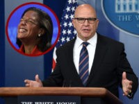 "National Security Advisor H. R. McMaster speaks during a press briefing at the White House in Washington, DC on May 16, 2017 . McMaster on Tuesday denied that US President Donald Trump had caused a ""lapse in national security"" following reports he disclosed highly-classified information about the Islamic State group …"
