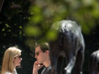 SUN VALLEY, ID - JULY 13: (L to R) Ivanka Trump, assistant to President Donald Trump and daughter of President Trump, and Jared Kushner, White House senior advisor to the president for strategic planning and son-in-law to President Donald Trump, attend the third day of the annual Allen & Company …