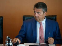 German Vice Chancellor and Foreign Minister Sigmar Gabriel leads the weekly cabinet meeting on August 2, 2017 at the Chancellery in Berlin. / AFP PHOTO / AXEL SCHMIDT (Photo credit should read AXEL SCHMIDT/AFP/Getty Images)