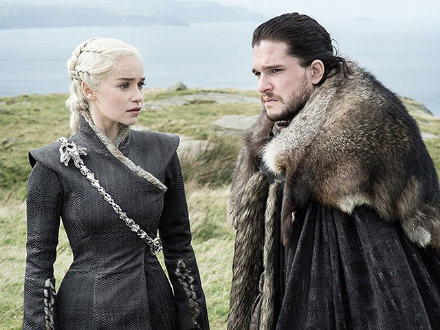 Kit Harington and Emilia Clarke in Game of Thrones (HBO, 2011)