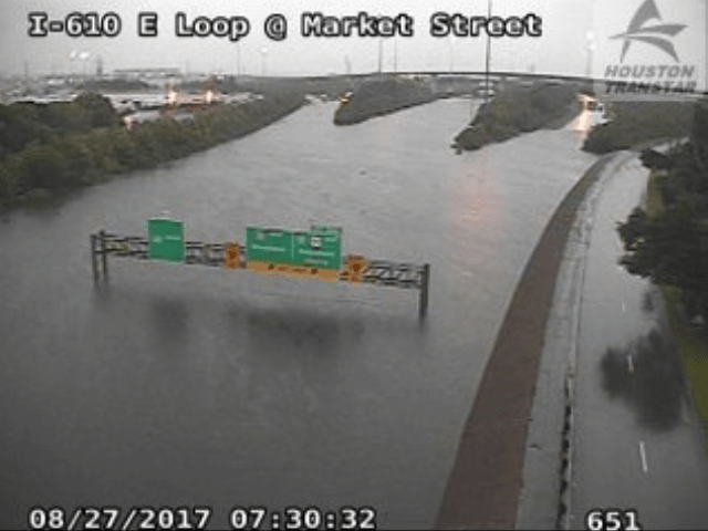 Houston I-10 flooded - Transtar